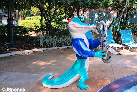 Gator with Sax