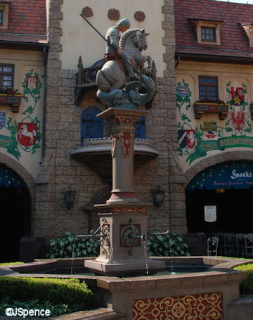 Fountain and Statue of Saint George and the Dragon