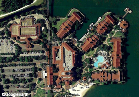Aerial Shot of the Grand Floridian