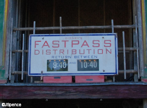 FastPass Return Time