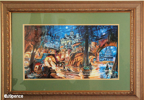 Artist concept drawing of Pirates of the Caribbean