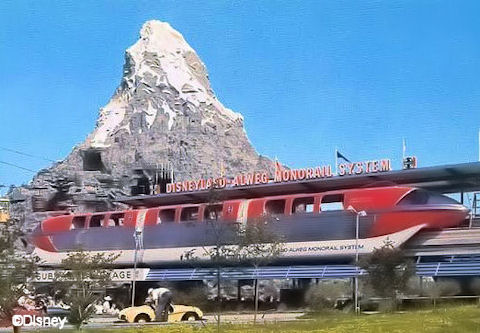 Monorail in Tomorrowland