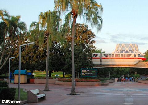 Outside the Land Pavilion