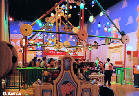 Toy Story Mania Ceiling