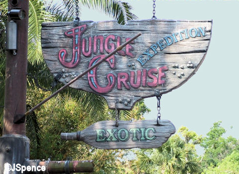 Magic Kingdom Jungle Cruise Sign