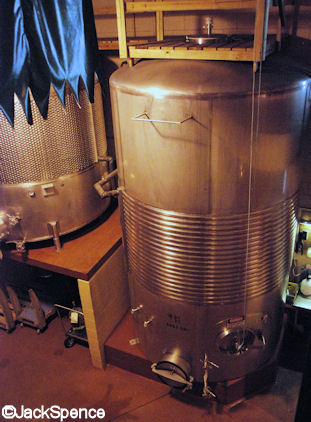 Barrel Room and Stainless Steel Tanks