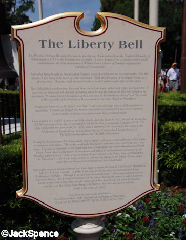 Liberty Bell Sign