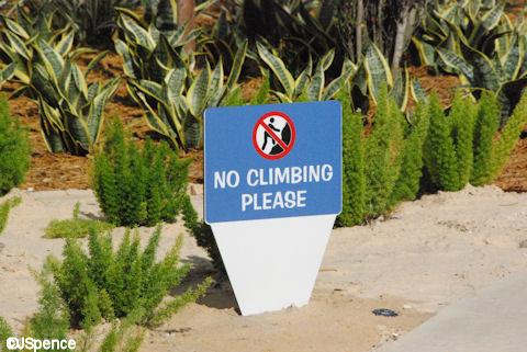No Climbing Sign
