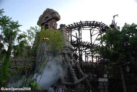 Raging Spirits Roller Coaster Lost River Delta Tokyo DisneySea