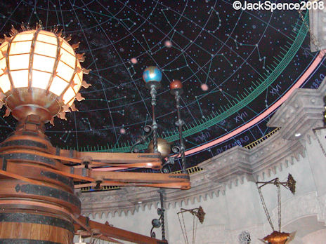 An ancient planetarium in Fortress Explorations Mediterranean Harbor at Tokyo DisneySea