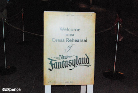 Dress Rehersal Sign