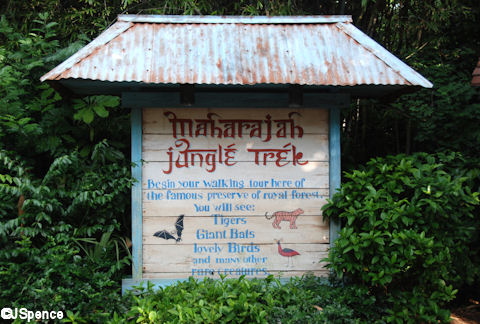 Maharajah Jungle Trek Sign