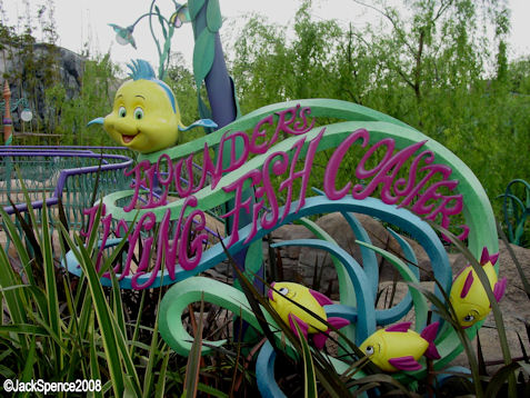 Flounder's Flying Fish Coaster at Mermaid Lagoon at Tokyo DisneySea