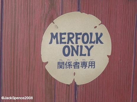 Signage at Mermaid Lagoon at Tokyo DisneySea