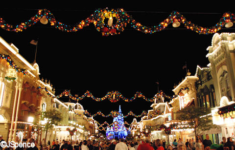 Main Street USA during the Holidays