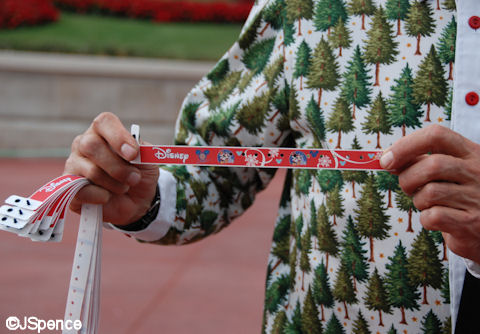 wrist band - Disney Christmas Party Tickets