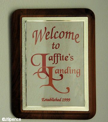 Laffite's Landing Plaque