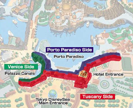 Map of the MiraCosta Hotel Tokyo Disneyland