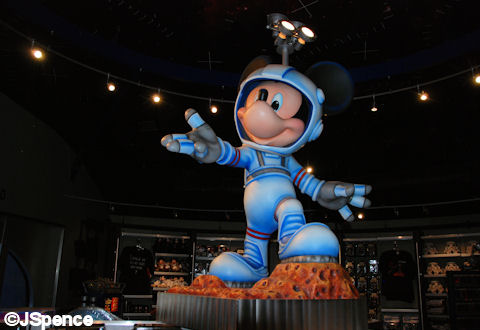 Mickey at Mission Space Cargo Bay