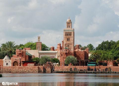 Morocco Pavilion across World Showcase Lagoon