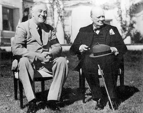 Franklin and Churchill in Casablanca