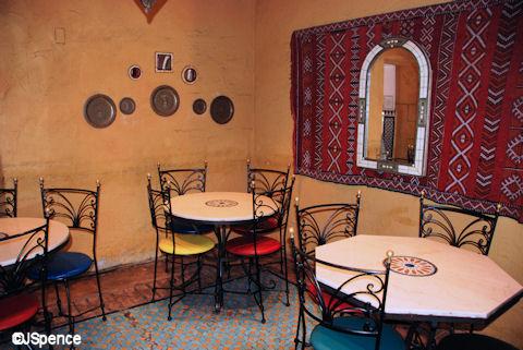 Tangierine Café Seating