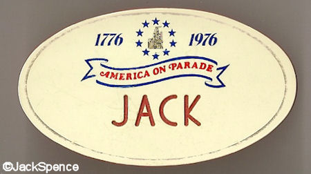 America on Parade Name Tag