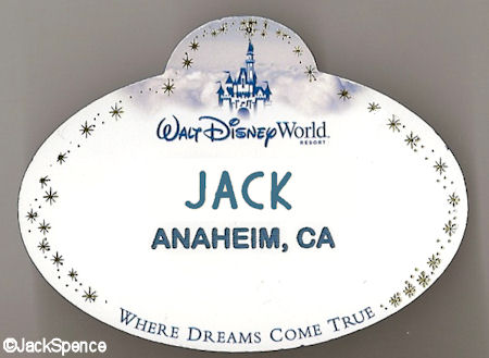 WDW Current Name Tag