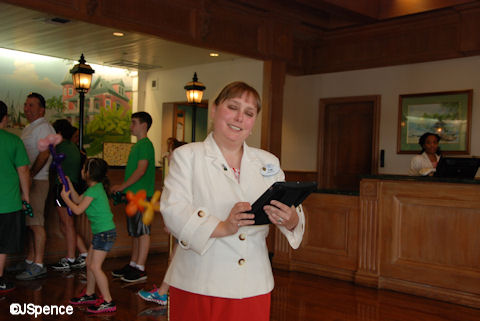 Cast Member Assisted Check-in