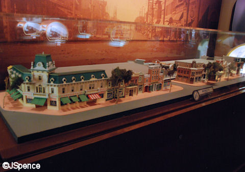 Model of Disneyland's Main Street