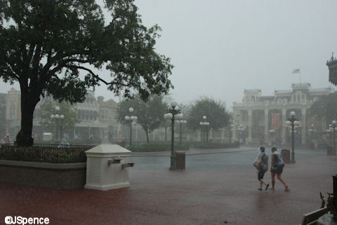 Raining at the Magic Kingdom