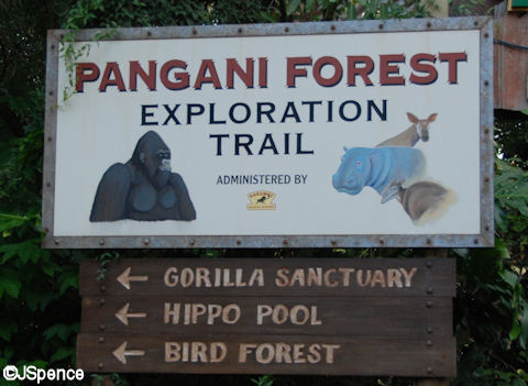 Pangani Forest Exploration Trail Sign