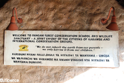 Harambe/Pangani Forest Conservation Sign