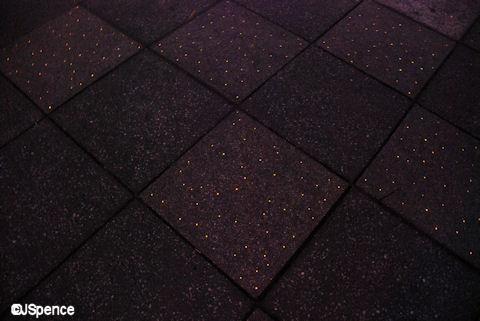Fiber Optics Embedded in Black Tile