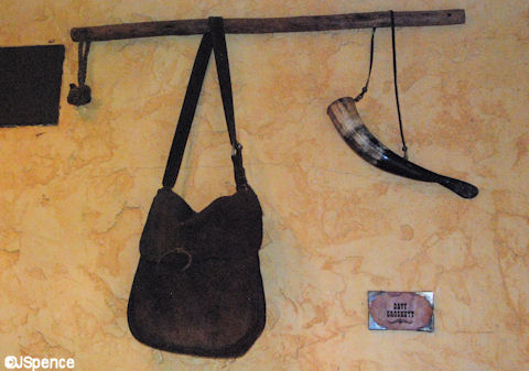 Davy Crocket's Satchel and Powder Keg