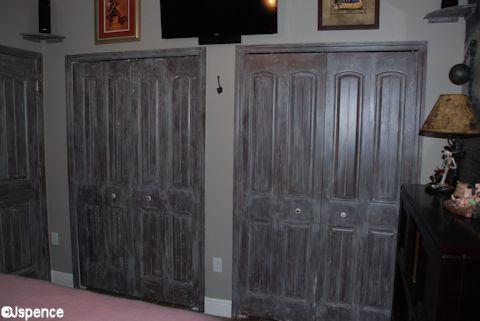 Whitewahed Closet Doors