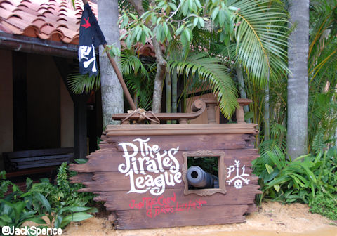 The Pirate League Sign