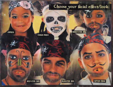 Pirate Facial Choices