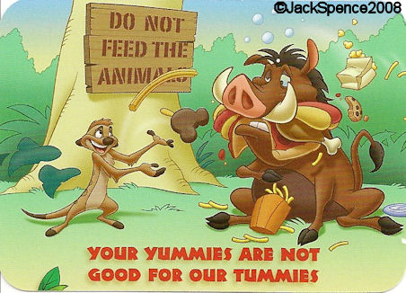 Don't Feed the Animals Safety Card