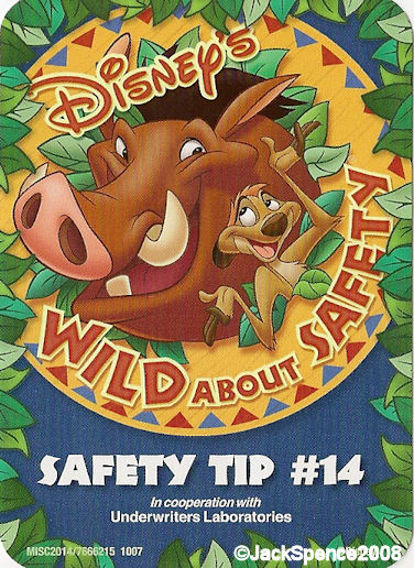 Disney's Wild About Safety.  Safety Tip 14