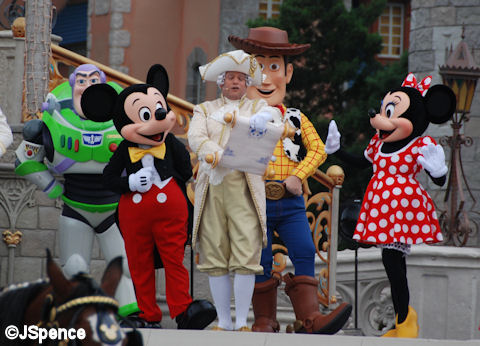 Mickey & Town Crier