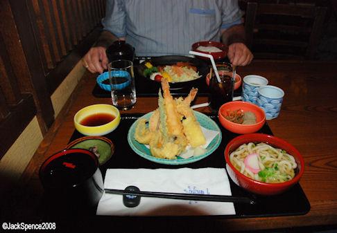 Tempura at Restaurant Hokusai at Tokyo Disneyland