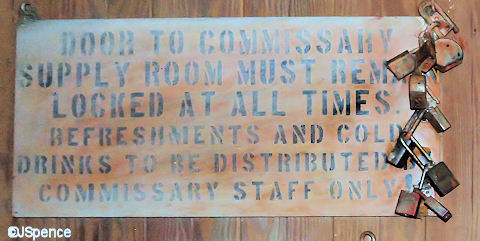Commissary Sign and Locks