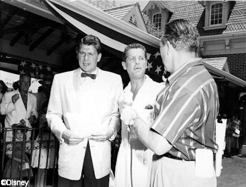Bob Cummings, Art Linkletter, and Ronald Reagan