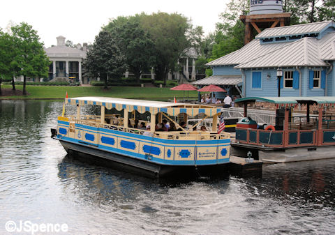 Boat to French Quater and Downtown Disney