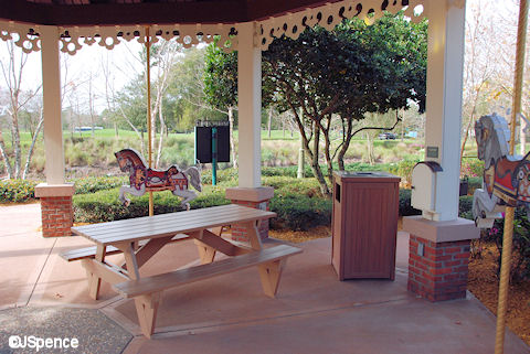 Carousel Barbeque Area