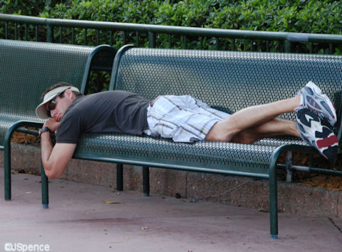 Sleeping at Disney World