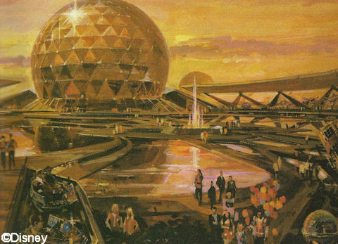 Concept Drawing for Spaceship Earth