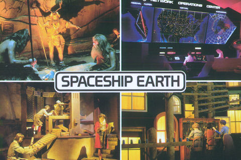 Spaceship Earth Postcard