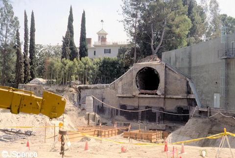 Disneyland Splash Mountain Under Construction
